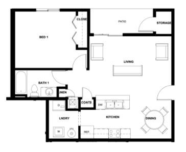 Quail Point Apartment Floorplan